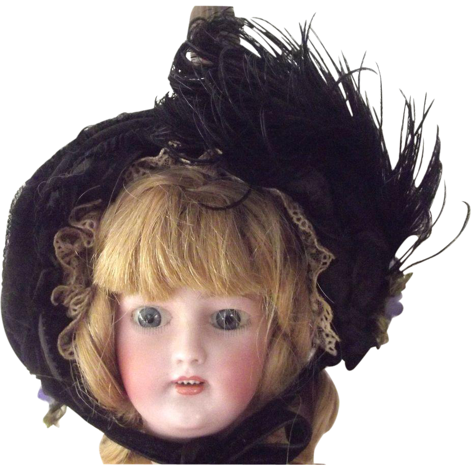 Doll's Mourning Bonnet