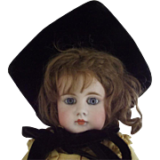 Victorian Doll Mourning Bonnet