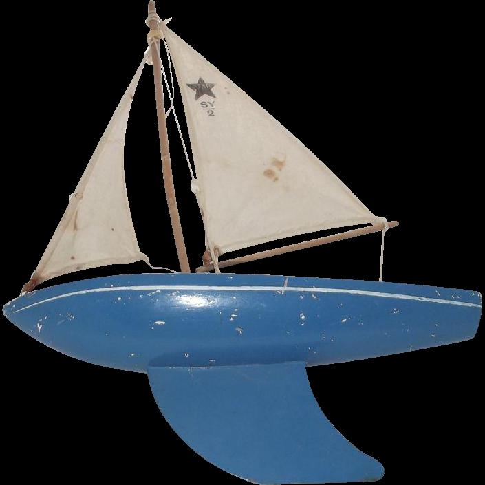"Wood Sailboat ""Birkenhead"" Made in England"