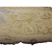 Victorian Curtain With Angels, Figures, Netting and Silk