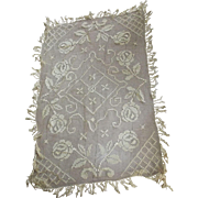 Edwardian Tablecloth With Fringe, Flowers