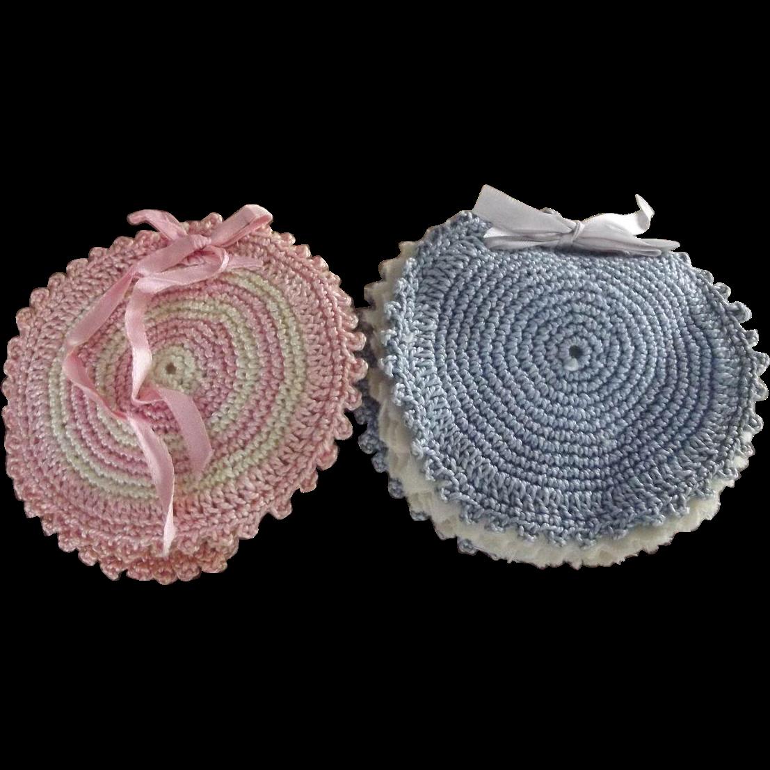 Pair of Crocheted Pincushions