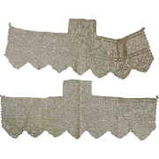 Pair Heavy Crochet Trims