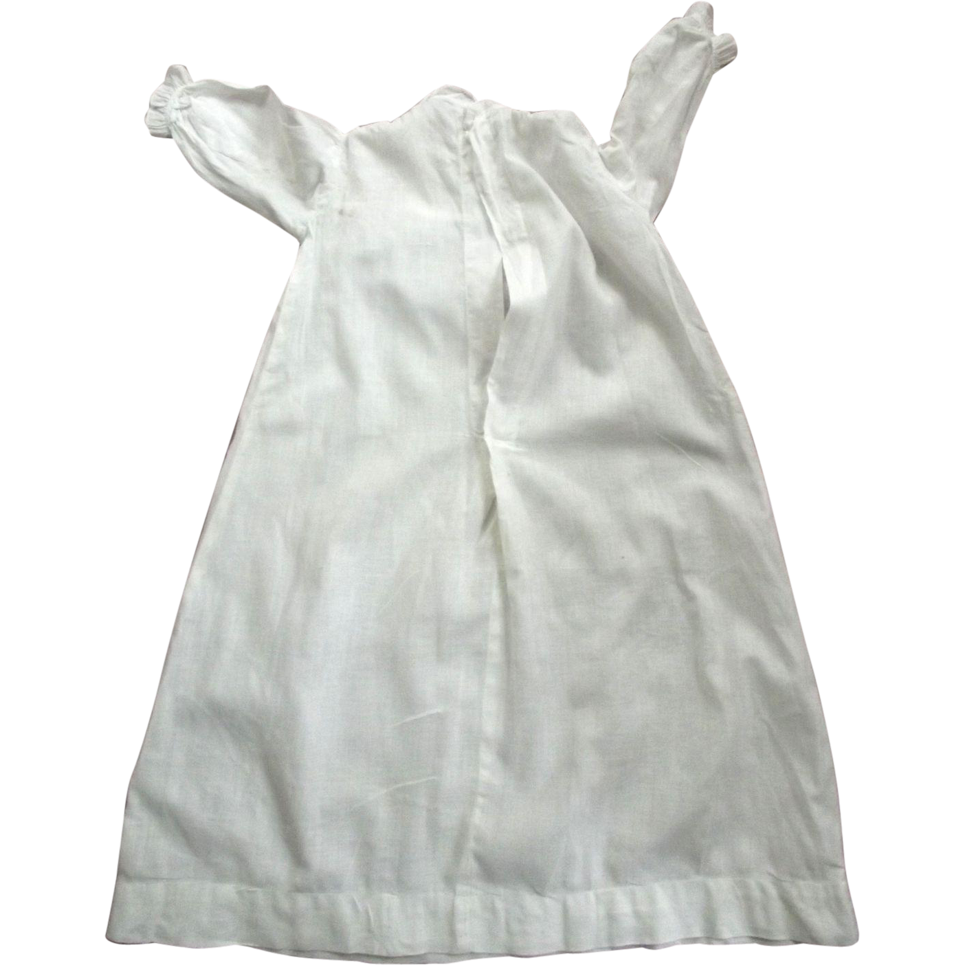 Linen Baby Dress With Repairs Good For Large Baby Doll