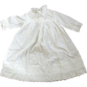 Victorian/Edwardian Baby Dress Good For Large Doll