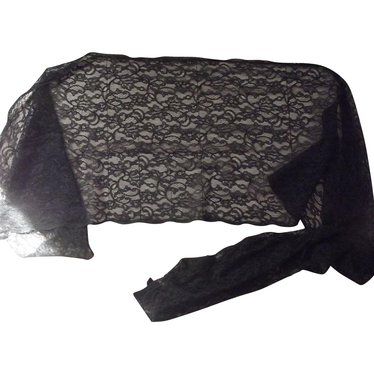 Black Lace 1950's Shawl