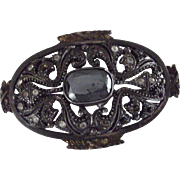 Victorian Brooch, Pin, Possibly Mourning, Missing Stones