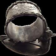 Victorian Wilcox Silver Co.  Meriden Ct.  Napkin Ring With Cupid, Wishbone, Heart