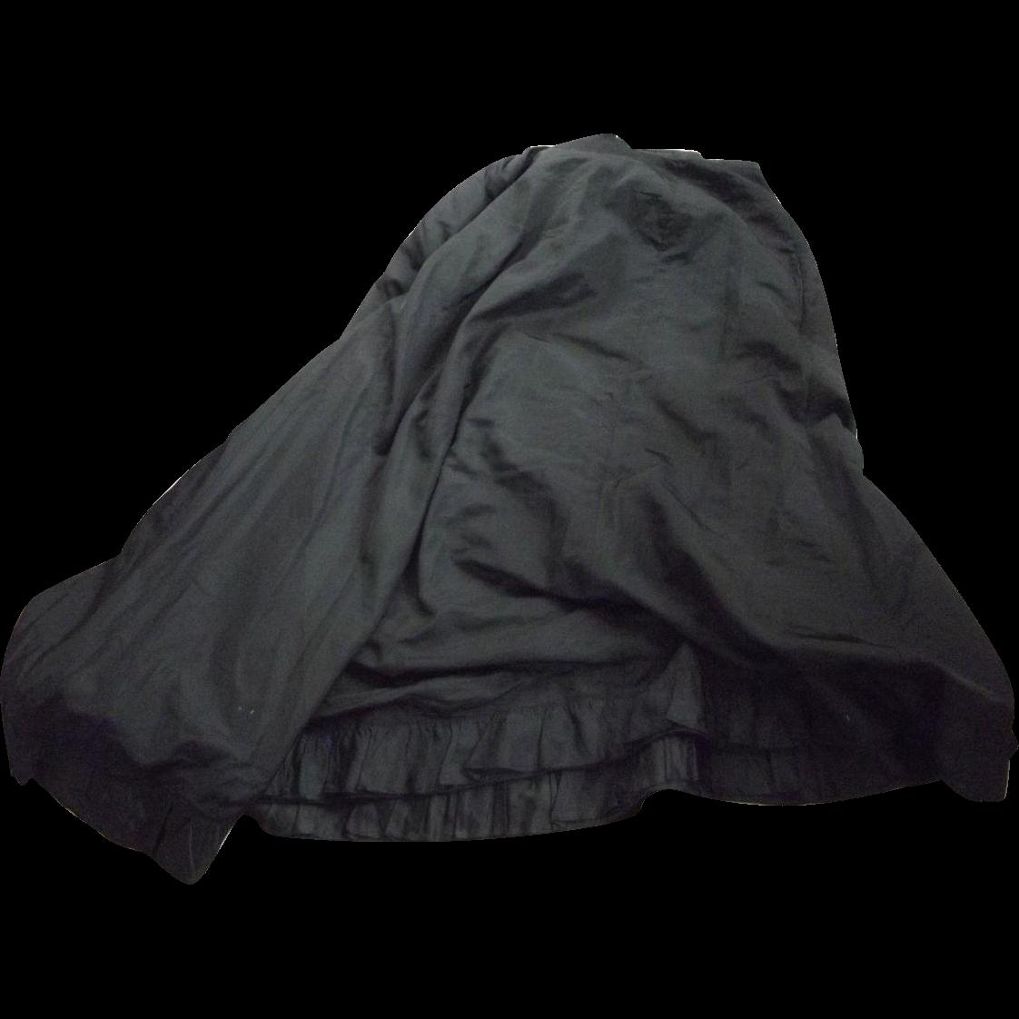 Black Victorian Skirt