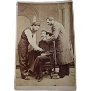 Set of Four Rare Posed Cabinet Cards Likely Post Mortem