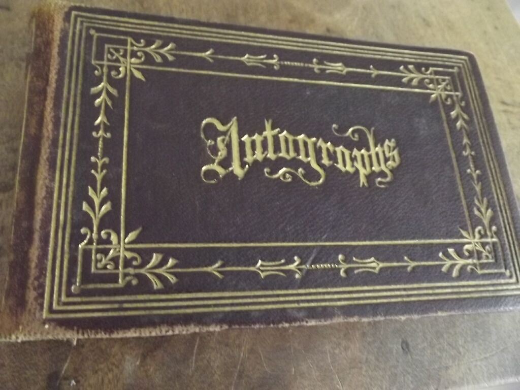 Victorian Autograph Book Rome New York
