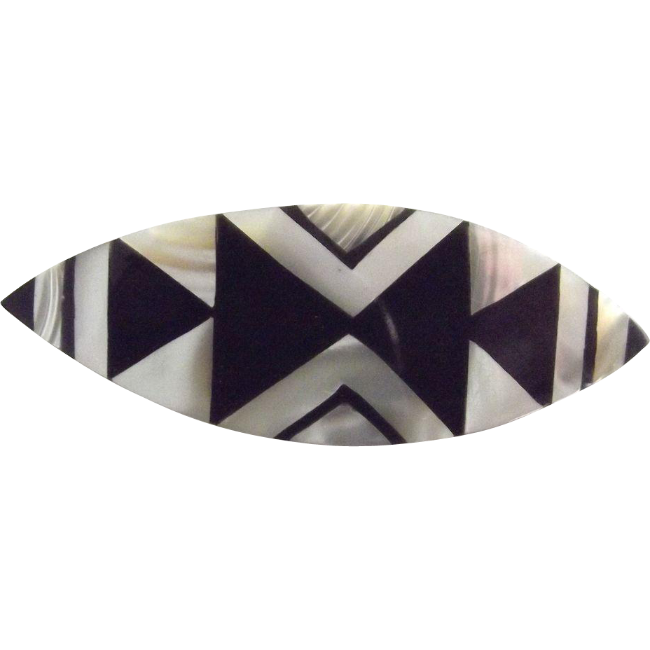 Vintage Geometric Art Deco Style Pin from fhtv on Ruby Lane