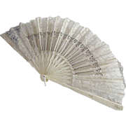 Victorian Wedding Fan In Box
