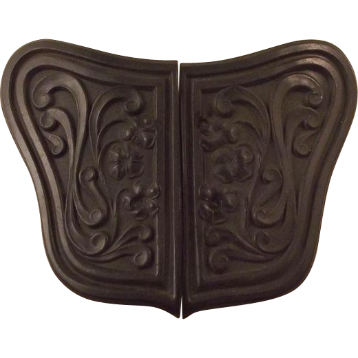 Victorian Black Mourning Belt Buckle