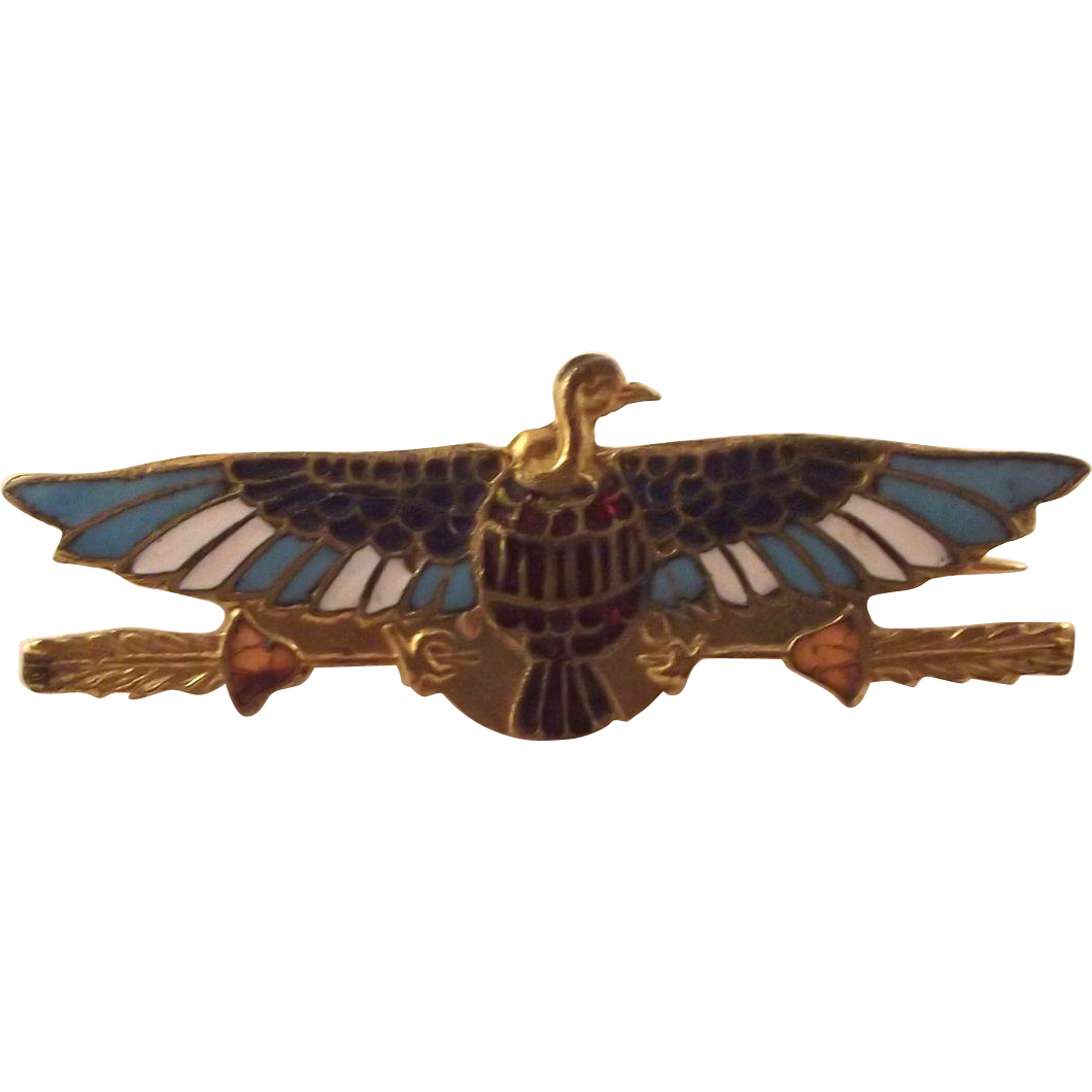 Egyptian Revival    Bird Pin