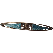 Egyptian Revival Sterling Winged Pharoah