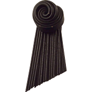 Black Art Deco Dress Clip