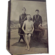 Tintype Of Bathing Scene