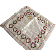 French Souvenir Silk Handkerchief