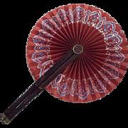 Red Circular Fan