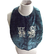 Early Silk Velvet Bib  or Collar