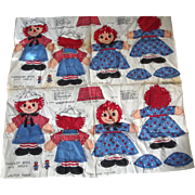 Valtex Raggedy Ann and Andy To Cut, Stuff and Sew