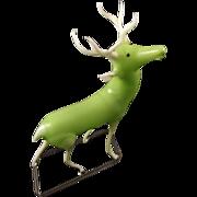 Uranium Glass Reindeer Figurine