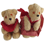 Pair of Miniature  German Petz Bears