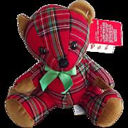 Vintage Plaid Bear For Christmas - Red Tag Sale Item