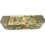 Victorian Celluloid Box With American Indian Motif