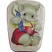 English Tin With Elephant