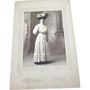 Photo of Edwardian Woman With Huge Hat
