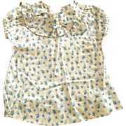 Doll Dress Blue and White Print 40's or 50's