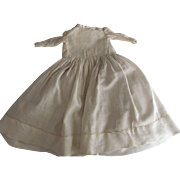 Early Doll Dress With Top Stitching