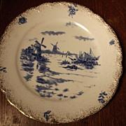 Delft Plate Dutch Scene