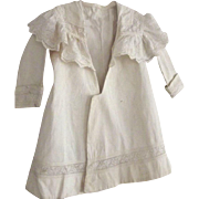 Edwardian Twill Child's Coat With Large Eyelet Collar