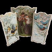 Original Edwardian Calendar With Birds, Dogwood Tree, Family Picture