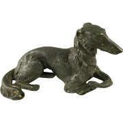 Jennings Brothers Borzoi Pewter Dog