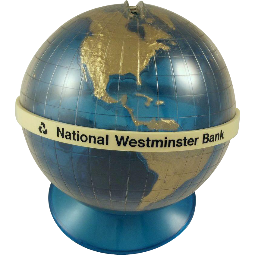 Blue Globe Of The World Bank From Fhtv On Ruby Lane
