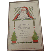 Early Christmas Postcard With Santa
