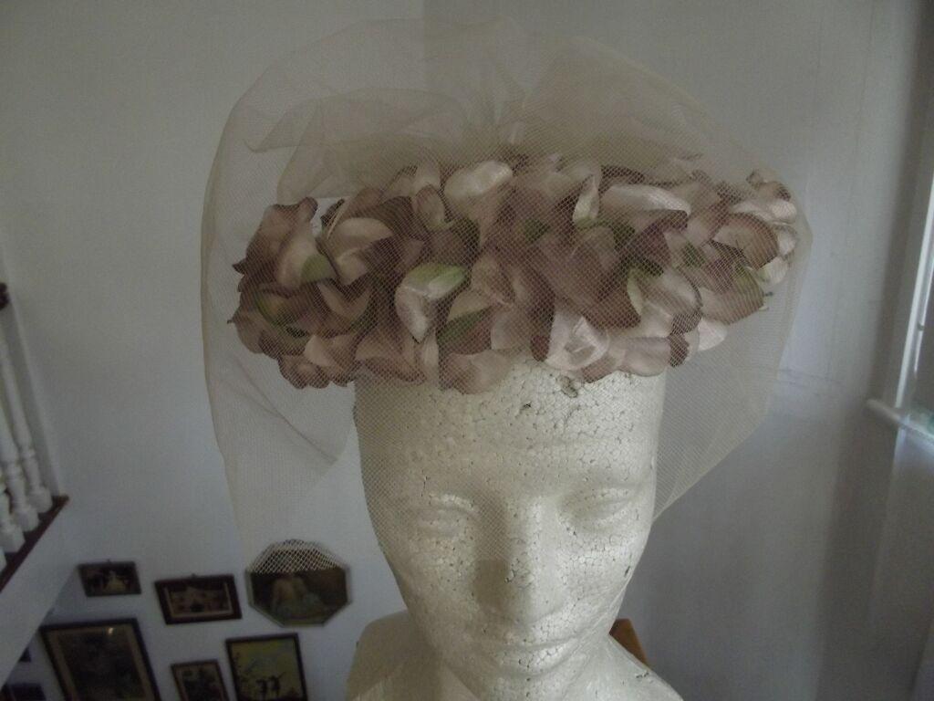 Beige Floral Hat