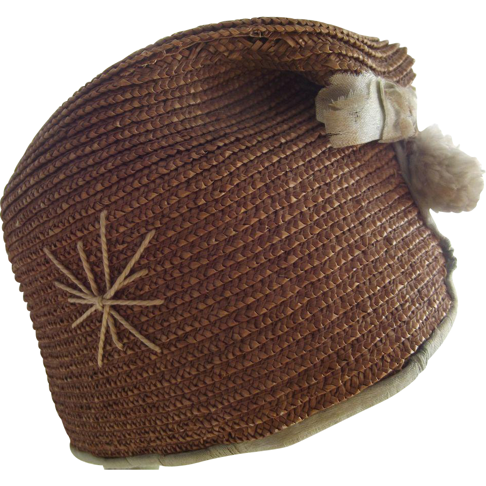 Straw Doll Flapper Hat