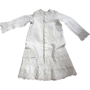 Victorian Child's Fussy Dress With Eyelet Trim Great Dress For A Large Doll