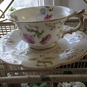 French Porcelain Cup and Saucer