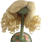 Pale Blonde Faux Mohair Long Curly Wig