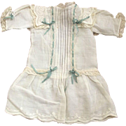 Lawn Dress With Lace and Tucks