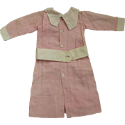 Pink School Dress For  Bisque Doll