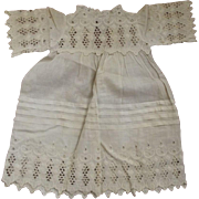 Eyelet Cotton Dress For Bisque Doll,