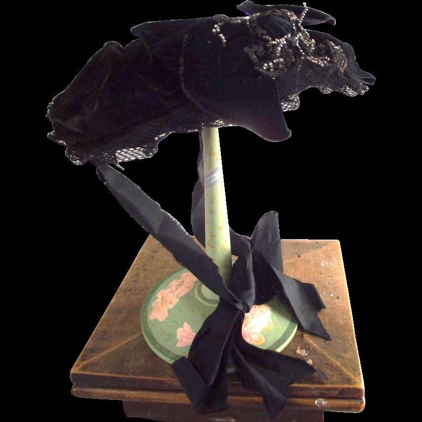 Victorian Mourning Bonnet
