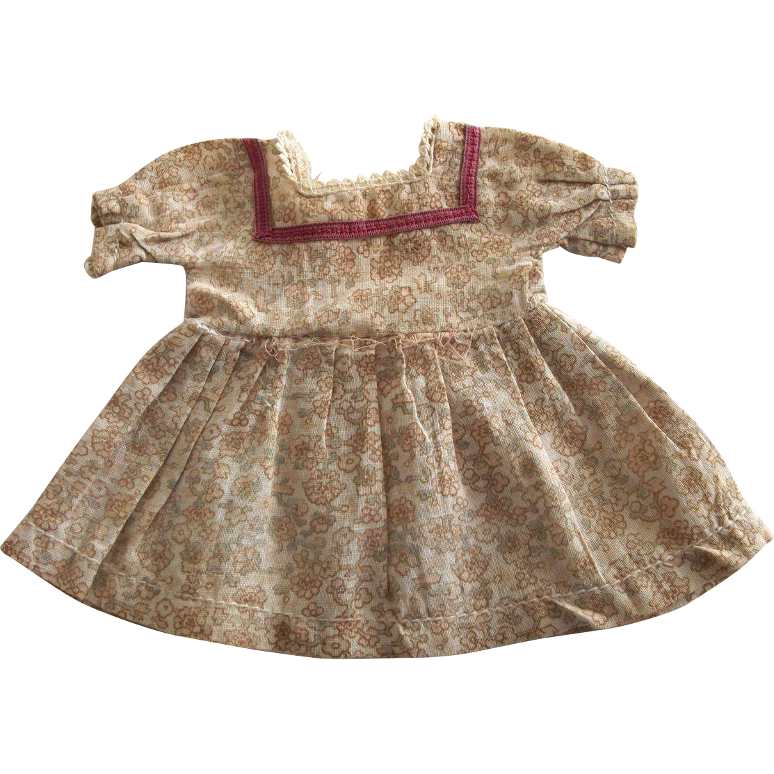 Vintage Cotton Small Doll Dress